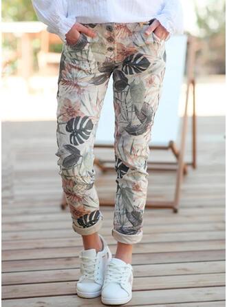Fleurie Imprimé Grande taille Longue Boho Décontractée Élégante Pantalon