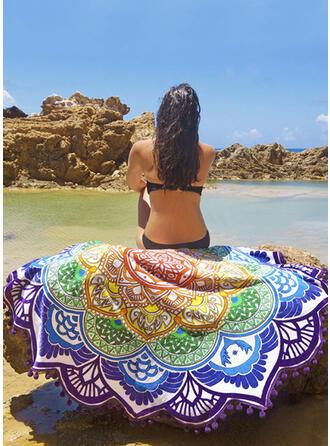 Retro /Cru/Tassel/Bohême Poids léger/Multi-fonctionnel/Colorful/Feuilles en forme/Sans sable/Séchage rapide serviette de plage