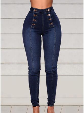 Patchwork Grande taille Élégante Sexy Jeans