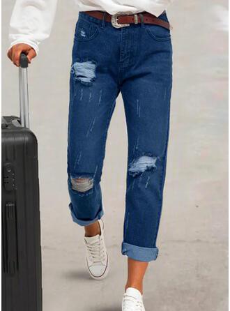 Grande taille Déchiré Tribal Ancien Jeans