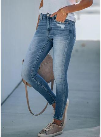 Froncé Grande taille Déchiré Élégante Maigre Jeans