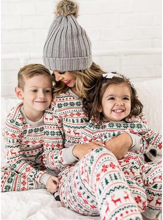 Cerf Striped Inmprimé Tenue Familiale Assortie Pyjama De Noël