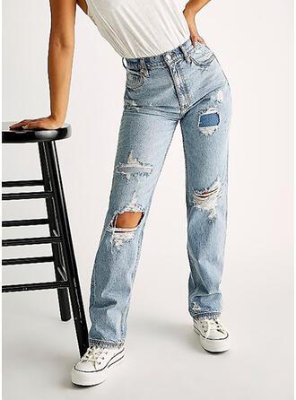 Déchiré Décontractée Ancien Jeans