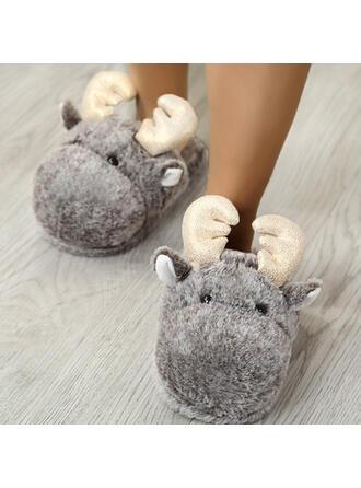 Femmes Talon plat Chaussures plates bout rond avec La copie Animale Couleur d'épissure chaussures