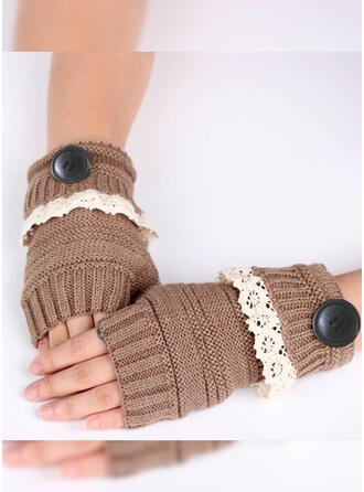 Couleur unie/Crochet Respirant/Confortable/aux femmes Gants