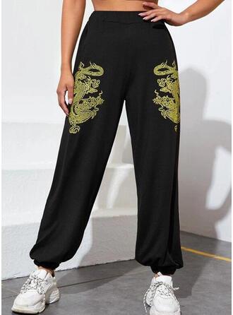 Imprimé Longue Décontractée Pantalon