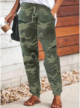 Grande taille Camouflage Cordon Longue Décontractée Sportif Pantalon