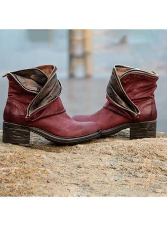 Femmes PU Talon bottier Bottines avec Semelle chaussures