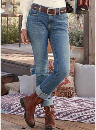 Froncé Grande taille Tribal Ancien Jeans