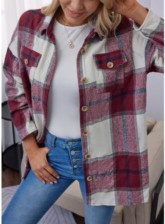 Long Sleeves Color Block Jackets