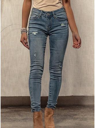 Froncé Déchiré Sexy Maigre Jeans