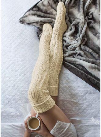 Couleur unie Respirant/Chaussettes hautes Bas