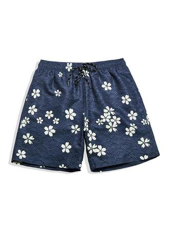 Pour des hommes Floral Doublé Shorts de bain