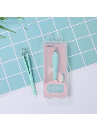 Classique Plastique PVC Pinces à épiler et outils pour sourcils avec Sac en PVC