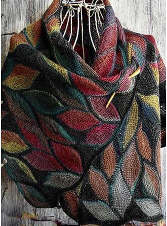 Retro /Cru/Feuilles/Colorful mode/Confortable/Feuilles en forme Écharpe