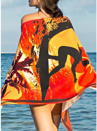 Color Block/Bohême/Colorful Poids léger/Multi-fonctionnel/Sans sable/Séchage rapide serviette de plage