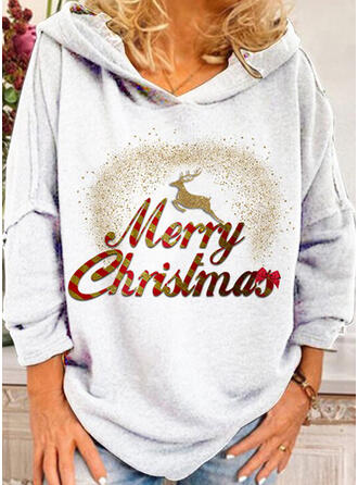 Motif Animal Figure Manches longues Sweat de Noël