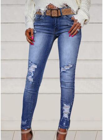 Grande taille Déchiré Élégante Sexy Jeans