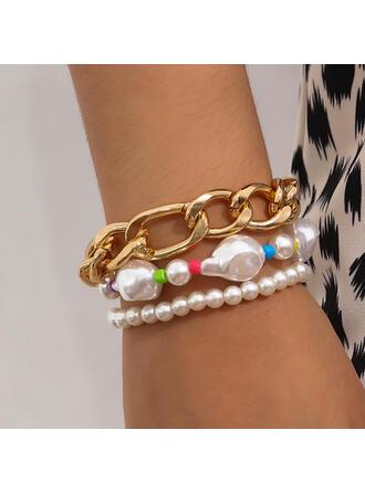 À la mode Sexy Bohème Alliage De faux pearl avec Perles Femmes Dames Bracelets 3 PIÈCES