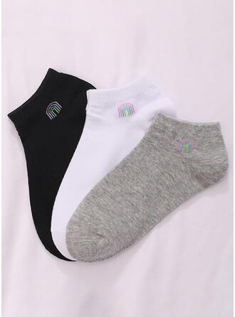Solid Color simple/Ankle Socks Socks 3-pairs