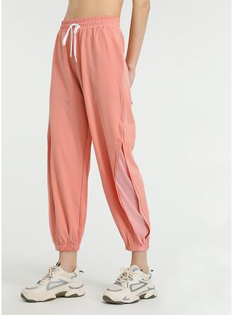 Polyester Plain Yoga/fitness pants Moisture wicking