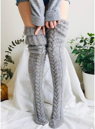 Couleur unie Chaud/Respirant/Confortable/aux femmes/Chaussettes hautes Chaussettes/Bas
