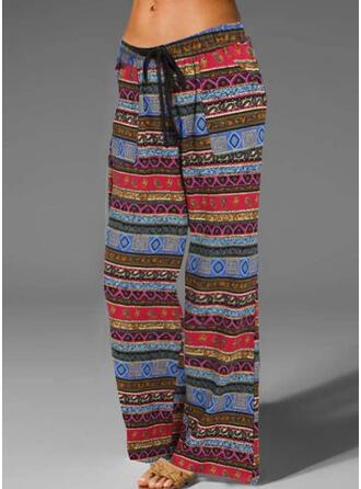 Striped Grande taille Boho Ancien Pantalons de détente