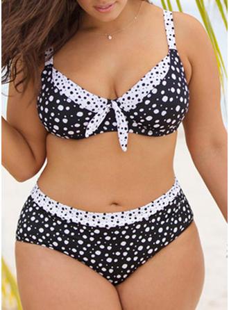 À pois À Bretelles Sexy Grande taille Bikinis Maillots De Bain